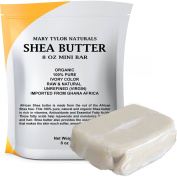 Organic Shea Butter 240ml By Mary Tylor Naturals, Raw Unrefined, Ivory . Premium Quality Amazing Skin Nourishment, Great For DIY Body Butters Lip Balms, Lotions Acne Eczema & Stretch Marks