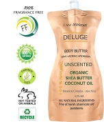 DELUGE - UNSCENTED BODY BUTTER, with Organic Shea Butter, Coconut Oil, Aloe Vera and Vitamin E