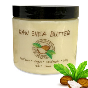 Raw Shea Butter-100% Pure, Virgin, Unrefined, Raw Ivory Shea Butter from NakedOil