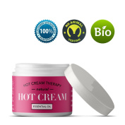 Essential Oil Anti-Ageing Cellulite Cream and Massager for Muscle and Joint Pain Reliever Skin Tightening Cream with Pure Organic Aloe Spearmint Frangipani Lavender Hot Cream Moisturiser for Belly Fat