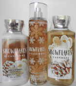 x3 Bath and Body Works Snowflakes Cashmere Lotion Gel and Mist Lot