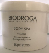 Biodroga Spa Relaxing Shimmering Rich Anti-Age Body Cream 500 gr Pro size. A divine care for dry and demanding skin