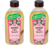 Monoi Tiki Tahiti Ylang Ylang Coconut Oil (Pack of 2), Scented With Fresh Handpicked Tiare Flowers, 100% Made in Tahiti, 120ml