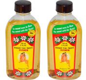Monoi Tiki Tahiti Jasmine Pitate Coconut Oil (Pack of 2), Scented With Fresh Handpicked Tiare Flowers, 100% Made in Tahiti, 120ml