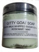 Gitty Goat Milk Soap Sugar Scrub, Rosemary Mint, 120ml