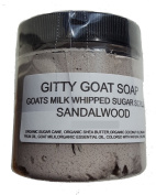 Gitty Goat Milk Soap Sugar Scrub, Sandlewood, 120ml