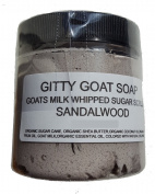 Gitty Goat Milk Soap Sugar Scrub, Sandlewood, 120ml
