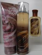 x3 Bath and Body Works Warm Vanilla Sugar Mist Cream and Gel Lot