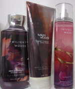 x3 Bath and Body Works Twilight Woods For Her Cream Mist and Gel Lot