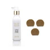 Korean HGS Herbal Hair Loss Fast Regrowth Gold Hair Loss Special Care Nutrition Essence + Dark Black Ginseng anti hair loss Soap 3ea