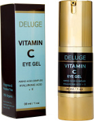 Vitamin C Eye Gel with Hyaluronic Acid + E + Amino Acid Complex. Dark Circles, Puffiness, Bags and Wrinkles