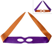 Two-sided Satin Ninja Turtles Eye Masks, 6.6cm Wx 43 0.8cm L(Set of 12) PURPLEORANGE