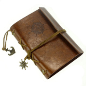 Coromose. Vintage Leather Cover String Nautical Notebook Journal Diary Book (Brown) by coromose
