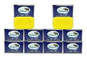 Dead Sea Sulphur Soap 130ml 10 Pack (10 Soap Bars) by Natural Elephant