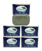 Dead Sea Mud Soap 130ml 5 Pack (5 Soap Bars) by Natural Elephant