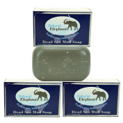 Dead Sea Mud Soap 130ml 3 Pack (3 Soap Bars) by Natural Elephant