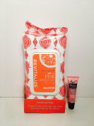 beauté essentielle Revitalise Pink Grapefruit Make up Removing Cleansing Wipes - 60 Wipes - Free Starry Lip Plumping Gloss 10ml