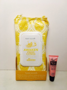 beauté essentielle Awaken Fresh Citrus Make up Removing Cleansing Wipes - 60 Wipes - Free Starry Lip Plumping Gloss 10ml
