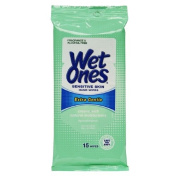 Wet Ones Wipes for Hands & Face, 20 Count Travel Pack (Pack of 5) 100 Wipes Total