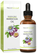 Virgin Passion Fruit Seed Maracuja Oil With Natural Vitamin C for Skin & Face, 30ml ~ Cold Pressed Concentrate, Pure & Unrefined With Anti Ageing & Moisturising Benefits by RejuveNaturals