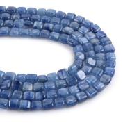 "Natural Gemstone Kyanite 6mm Square Loose Beads 16"""