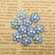 20 Pcs Resin Flowers Embellishments Cabochons DIY Hand Craft Accessories Blue
