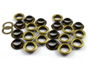 CRAFTMEmore 0.6cm Hole Size 100 Sets Antique Brass Bronze Metal Grommets Eyelets with Washers For Bead Cores, Clothes, Leather, Canvas