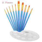 Artist Paint Brushes, DREAMZE 10 pcs Professional Art Paint Brush Set for Watercolour, Acrylics, Oil Painting Supplies Ceramic Terracotta Craft Art Face Painting