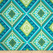 Terrasol Indoor/Outdoor Spanish Tile Peacock Fabric By The Yard