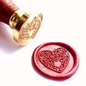 Vooseyhome The Heart Wax Seal Stamp with Rosewood Handle