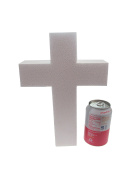 White Smooth Foam Cross - Baptism, First Communion, Confirmation, Wedding, Church Decor, Home Decor, Projects