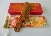 Sandalwood Hair Comb - No Static Big Size Wooden Wide Tooth Detangling Comb Handmade with Natural Green Sandalwood S25