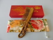 Sandalwood Hair Comb - No Static Big Size Wooden Wide Tooth Detangling Comb Handmade with Natural Green Sandalwood S8