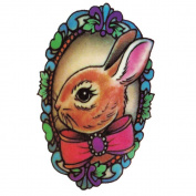 Yeeech Temporary Tattoos Sticker Rabbit Bunny Designs Waterproof Brown