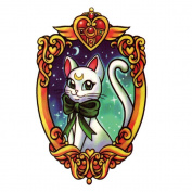 Yeeech Temporary Tattoos Sticker Moonlight Kitty Cat Waterproof