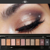 YABINA Eyeshadow Palette Makeup Matte + Shimmer 10 Colours - Highly Pigmented - Professional Nudes Warm Natural Bronze Neutral Smoky