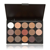 MisKos 15 Earth Colour Matte Pigment Eyeshadow Palette Cosmetic Shimmer Eye Shadow Make Up Kit