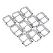 Silver Zinc Alloy Roller Pin Loop Ring Backpack Handbag Belts Buckle Pack of 10