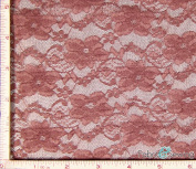 Dusty Pink Small Flower Stretch Lace Fabric 4 Way Stretch Nylon Spandex 120ml 140cm - 150cm