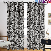 """LUXURY CURTAINS RING TOP FULLY LINED PAIR EYELET READY CURTAIN RING TOP LUCY UK (90"""" x 54"""""""