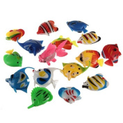 Well-Goal 1 pcs Colourful Artificial Plastic Bubble Lamp Fish Jellyfish Seahorse fr Aquarium tank
