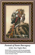 Fine Art Cross Stitch Patterns | Portrait of Santo Darcaguey
