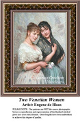 Fine Art Cross Stitch Patterns | Two Venetian Women