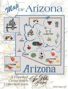 A Map of Arizona Cross stitch chart