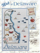 A Map of Delaware Cross stitch chart