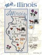 A Map of Illinois Cross Stitch chart