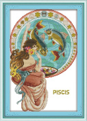 CaptainCrafts New Cross Stitch Kits Patterns Embroidery Kit - Pisces