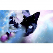 Fabal Cat And Tiger DIY 5D Diamond Embroidery Painting Cross Stitch Home Decor Craft