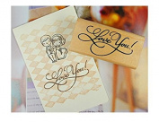 Adeeing Vintage Style Greeting Words DIY Rectangle Wood Rubber Seal Stamper Craft Art Word Love for Card Making