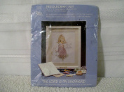 "1985 Precious Moments Collectors Club Members factory sealed needlecraft kit titled "" The Lord Is My Shepherd "" 28cm X 36cm by Paragon"